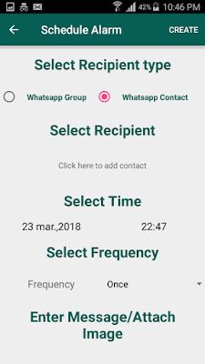 Programar un mensaje de WhatsApp
