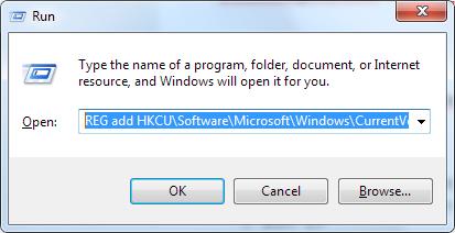 enable registry editor using cmd run