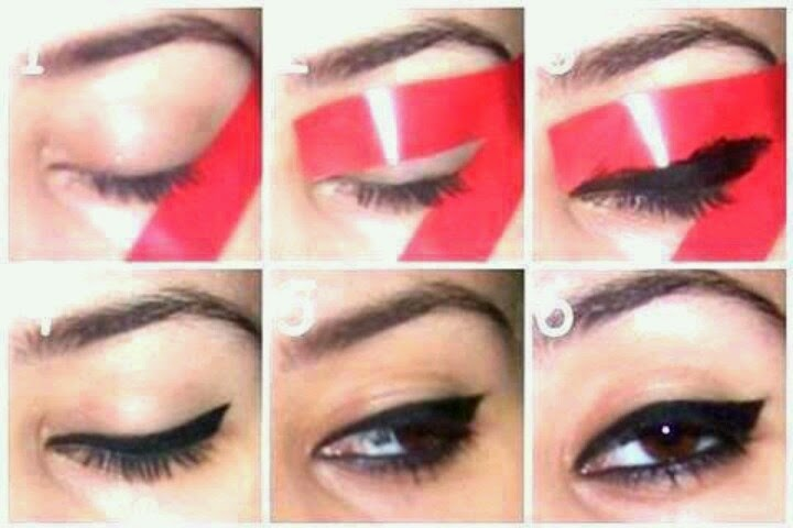 Step By Step Black Eyeliner With Tape Tutorial B Amp G Fashion