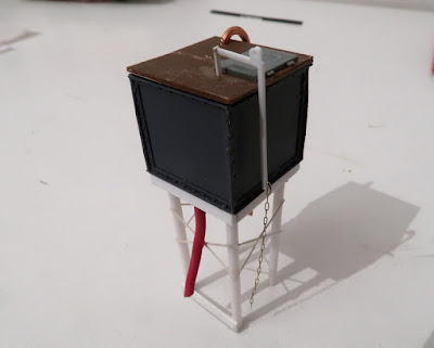 scratch built 009 scale water tower