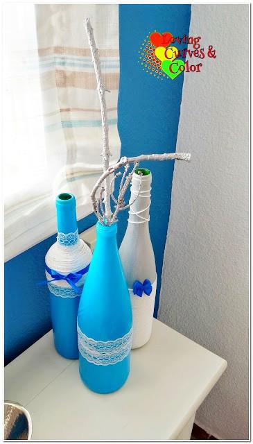 Botellas-decorativas-azules
