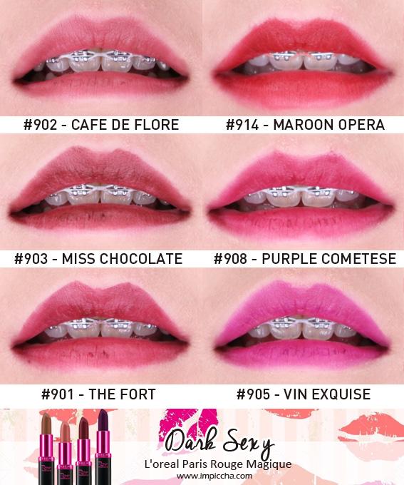 Loreal Paris Rouge Magique's Lipstick - Dark Sexy