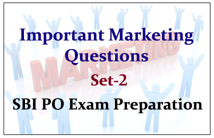 Important Marketing Questions for SBI PO Exam