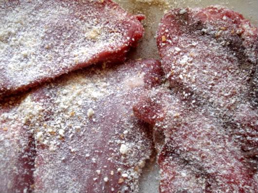 beef in breadcrumbs