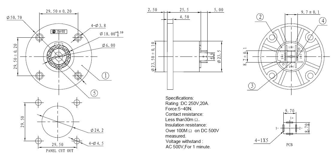 DIY PCB Layout Jack Speakon