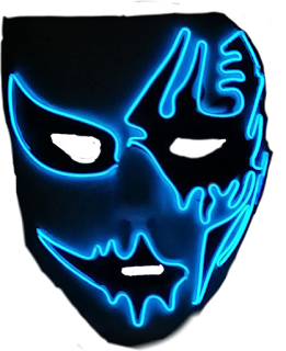 Neon mask photoediting png
