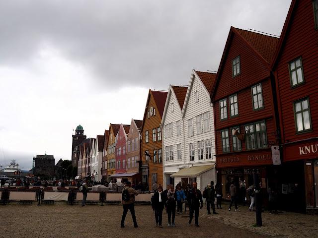 Bryggen, Unesco, domy, domečky, architektura, Norsko, Bergen