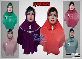 jilbab bergo syar'i queen dengan swarovski