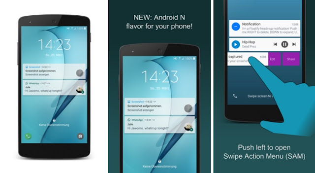 Get Android N Notifications and Swipe Actions on Any Android Phone