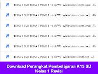 Download Perangkat Pembelajaran K13 SD Kelas 1 Revisi
