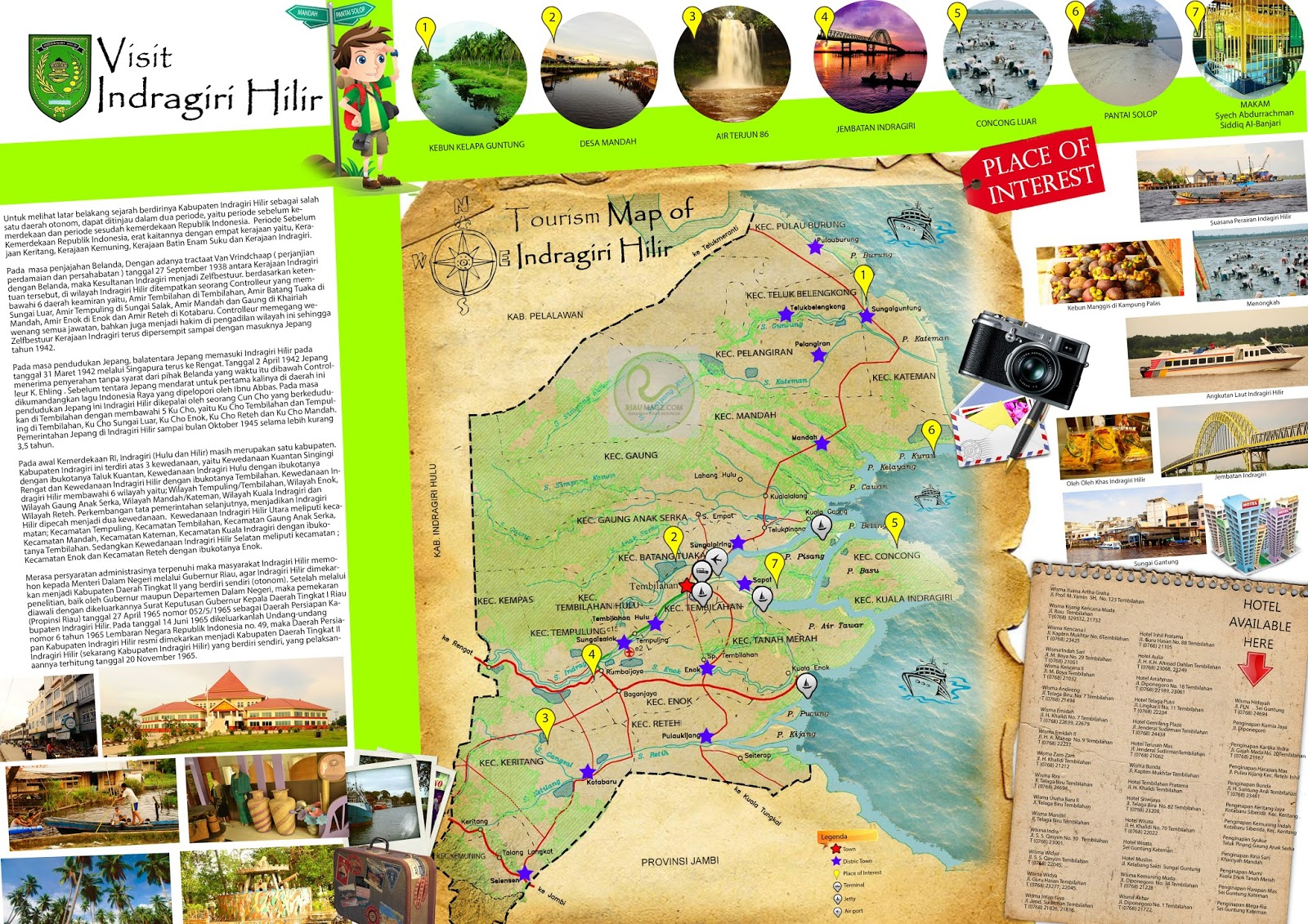 Peta Wisata Kabupaten Indragiri Hilir (Inhil) - Tourism