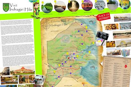 Peta Wisata Kabupaten Indragiri Hilir (Inhil) - Tourism Map of Indragiri Hilir - Riau - Indonesia