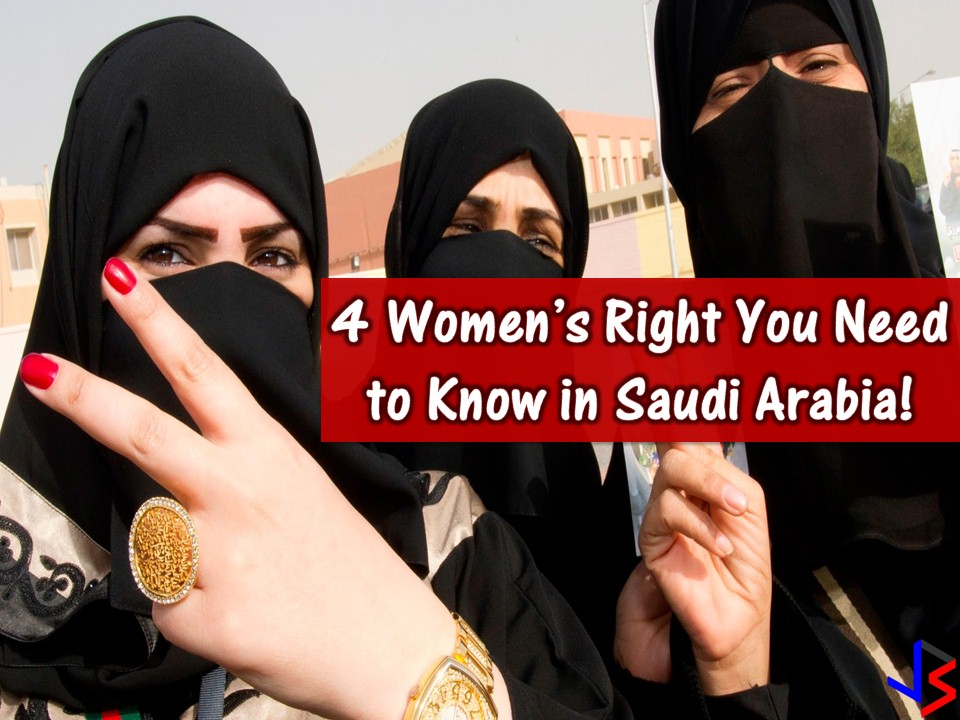 There are many changes taking place in Saudi Arabia especially for women this 2018! Women can now watch a sports event, can drive in June, allowed to watch concerts and other entertainment with other men and so on. These are the great steps by the Saudi Ministry of Justice to give women a freer and more secure life. But in spite of this, many Saudi women, including expats still do not have enough knowledge of their rights. The following are women's right in the Kingdom you should know!