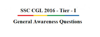 SSC CHSL 2016 Tier-1 Asked GK All Shift Questions [PDF]