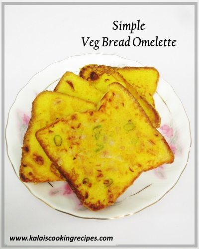 Veg Bread Omelette