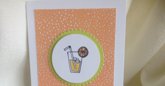 Stampin Up Mini Narrow Notecards and Envelopes with a Good Day Stamp Set and Tutti Frutti DSP
