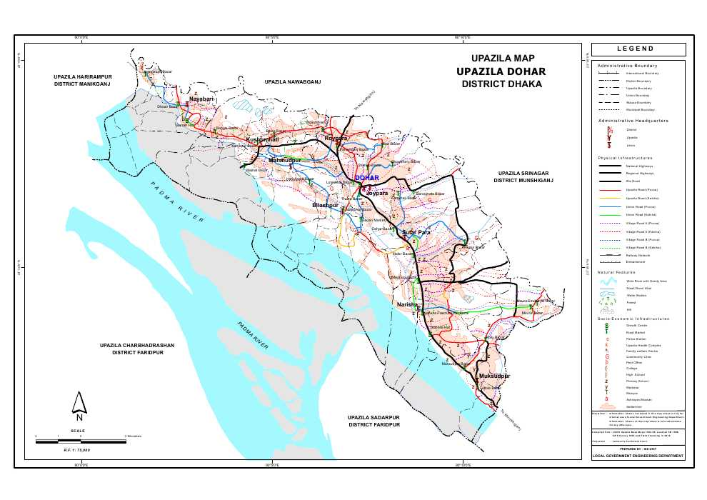 Dohar Upazila Map Dhaka District Bangladesh