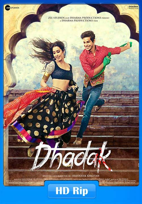 Dhadak 2018 Hindi 720p HDTV x264 | 480p 300MB | 100MB HEVC