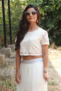 Actress Aqsa Bhatt Stills At Oru Melliya Kodu Movie Audio Launch  0007.jpg