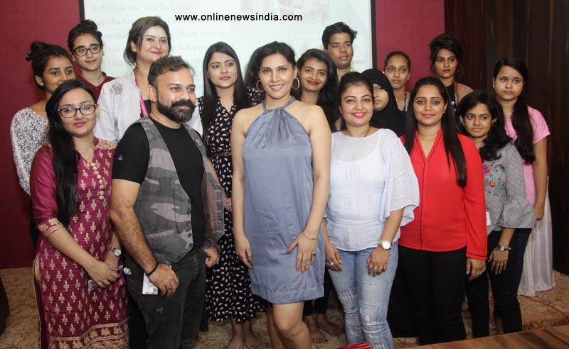Nilaanjana Bhattacharya with students of ASFA