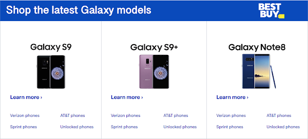 Get $300 off the Samsung Galaxy S9, S9+ and Note 8 at Best Buy (deals)