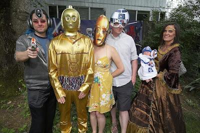 Boda y disfraces al estilo star wars