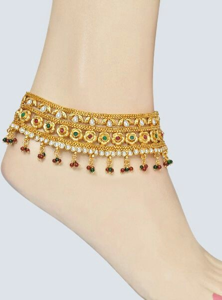 bracelet adjustable ankle sterling jewelry plate gold flower beaded over products silver fullxfull new il lotus anklet