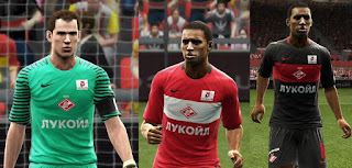 PES 2013 Spartak Moscow 2016-2017 kits by vladroman