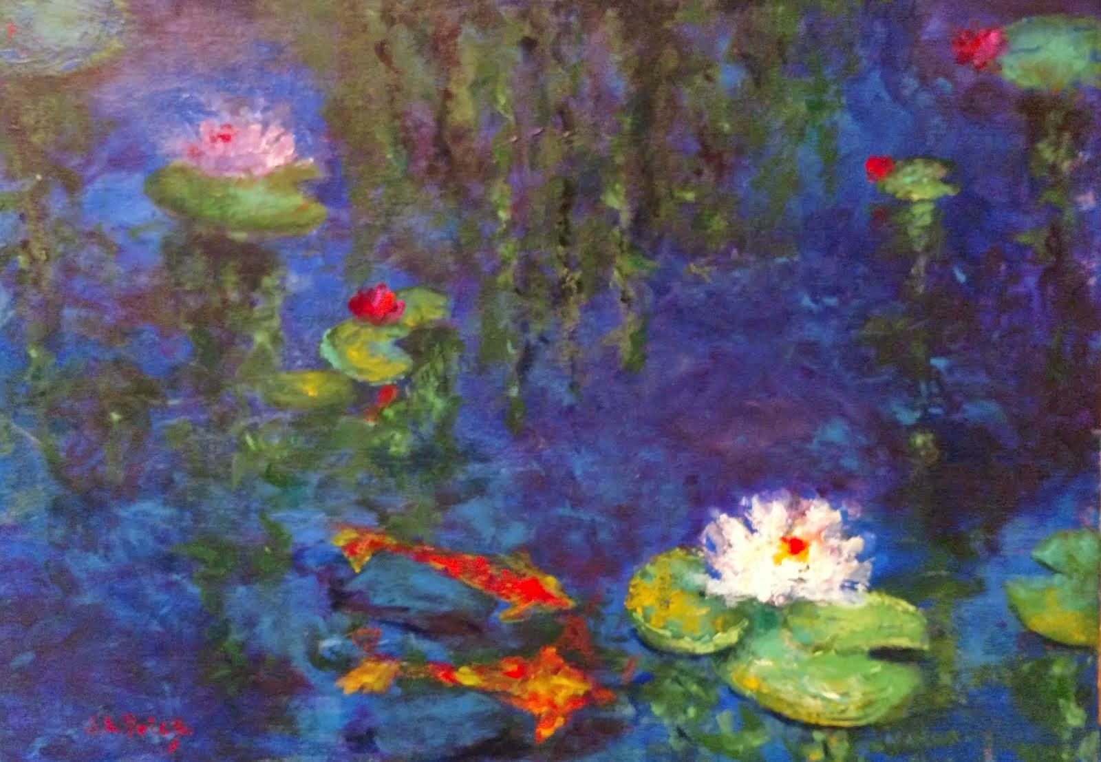 Aislin's Koi and Water Lilies