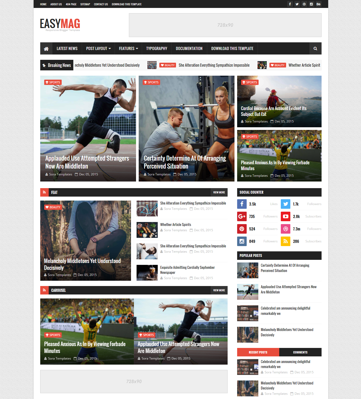 EasyMag Blogger Template