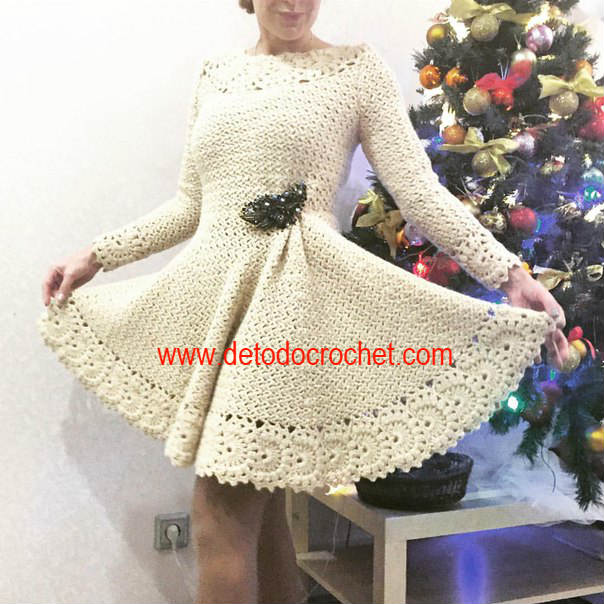 Vestido Crochet Falda Campana / DIY | Todo crochet