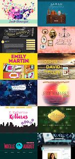 Examples from Hafsah's website portfolio