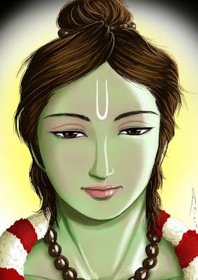 ramayana and rama ak ramanujan hanuman rama ring story