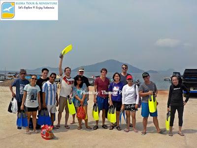 wisatawan mancanegara wisata snorkeling di pahawang