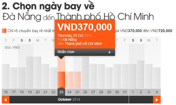 vé máy bay đà Nẵng Sài Gòn giá rẻ 370,000 VNĐ