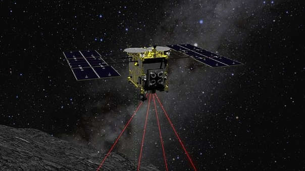 The Japanese probe Hayabusa2 returns to Earth with samples of an asteroid.