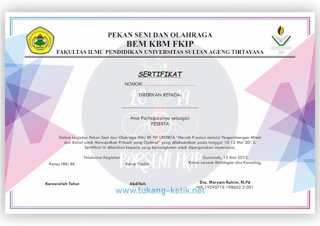 template sertifikat coreldraw