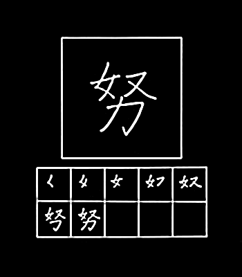 kanji berusaha