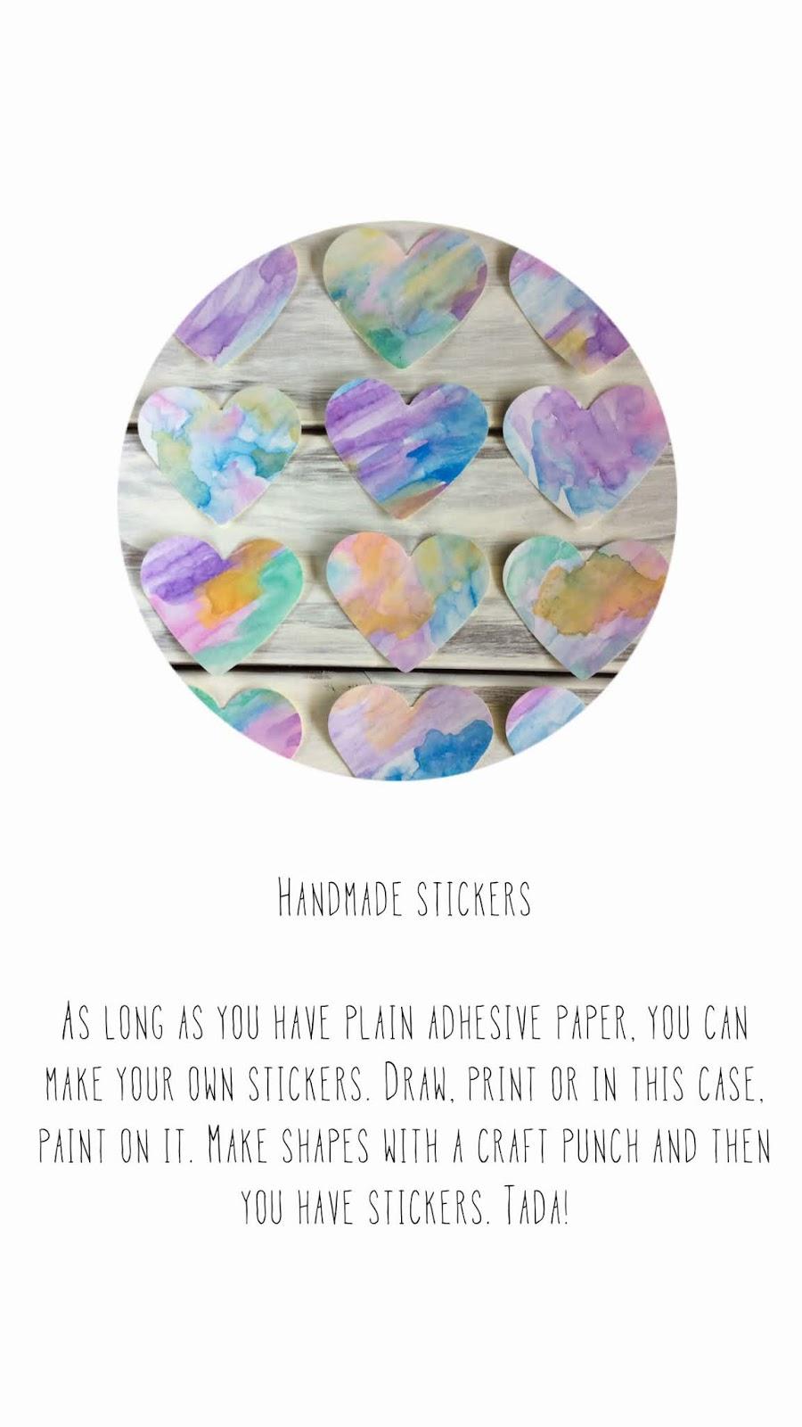 blah to TADA!: Handmade Stickers