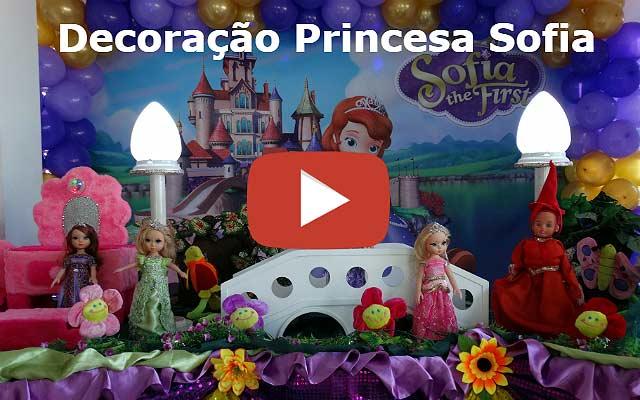 Decoração mesa de aniversário Princesinha Sofia