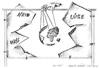Entwurf des Künstlers Achim Kühn für sein Segment zum Schmiede-Event in Ypern / Belgien
