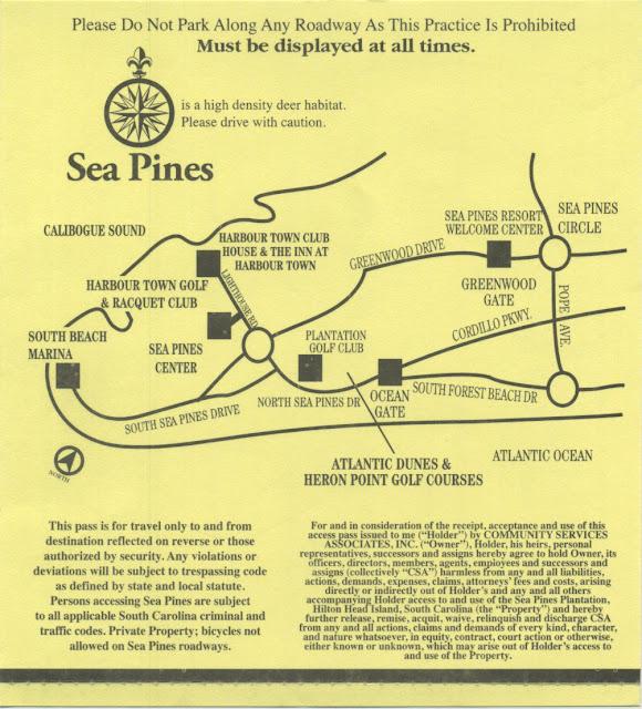 MARIETTE'S BACK TO BASICS: Sea Pines Hilton Head Island ... on harvard university map, wyndham ocean ridge map, harbour town golf links map, cape cod rail trail map, atlanta map, palmetto dunes map, marriott's surfwatch map, beaufort map, port royal map, hilton head neighborhood map, florida map,
