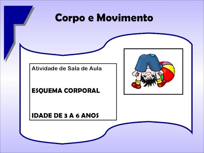 Esquema Corporal - Idade de 3 a 6 Anos.