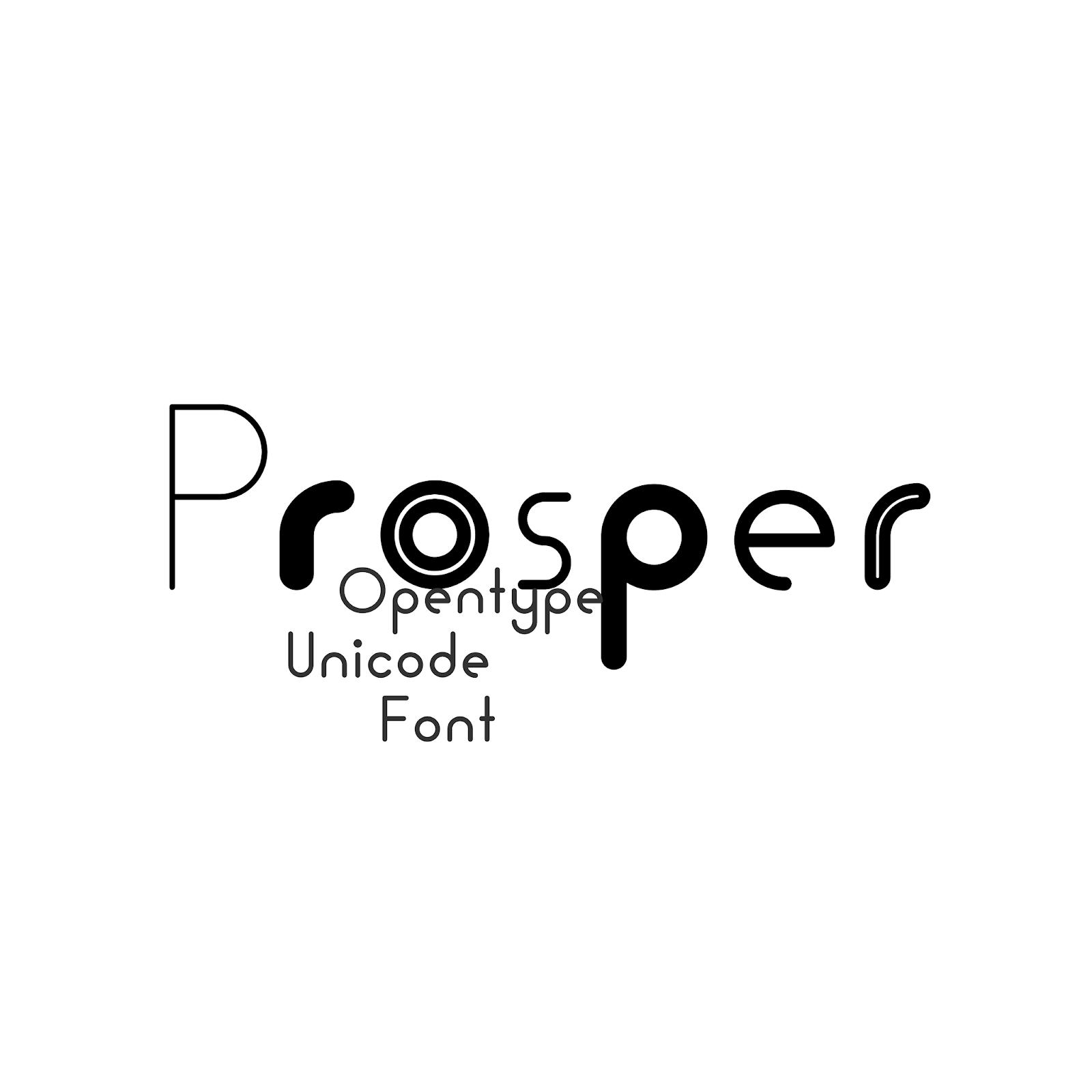 PVF_Prosper #Free Style Rounded Geometric Sans-Serif Font