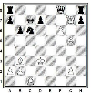 Posición de la partida de ajedrez Noah - Nenpo (Budapest, 1990)