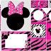 Pink Zebra Minnie Free Printable Mini Kit.