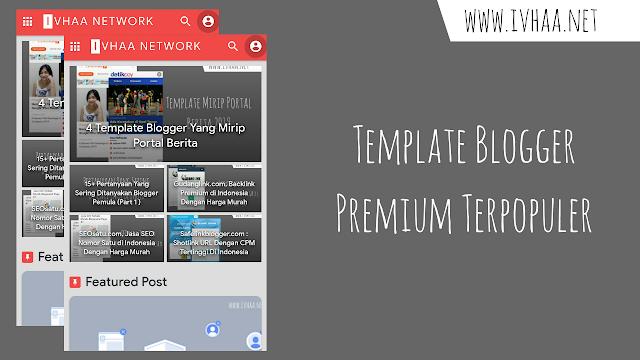5 Template Blogger Premium Terpopuler 2019
