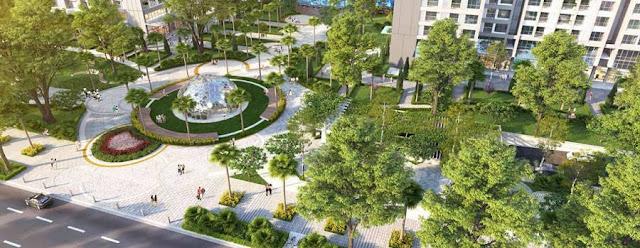 Không gian xanh chung cư Ruby City Ct3