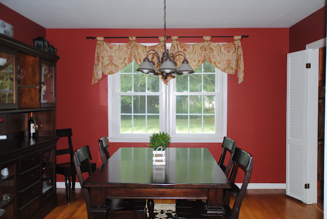 dining room before and after, red room, formal dining room