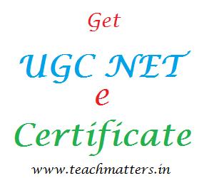 image: Get UGC NET e-Certificate @ www.teachmatters.in